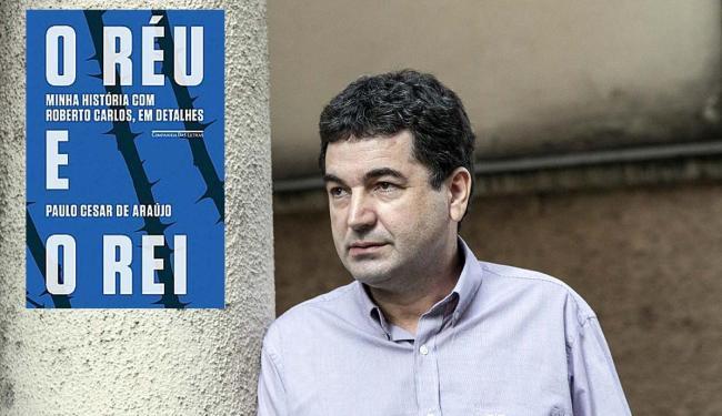 Paulo Cesar de Araújo e, no detalhe à esquerda, a capa do seu livro