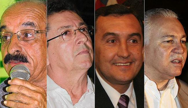 Foto: Fernando Gomes (DEM), Geraldo Simões (PT), Fernando de Fabinho (DEM) e o Joseph Bandeira (PT) - Foto: Agência A TARDE