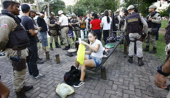 Repressão ao ato de 20/6. Ação da PM é apontada como fator inibidor - Foto: Margarida Neide   Ag. A TARDE