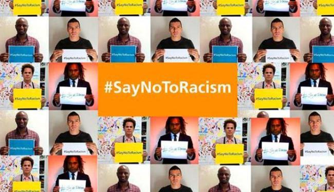 Karembeu, Vieira e Lúcio aderiam à campanha lançada pela Fifa para combater o racismo no futebol - Foto: Divulgação