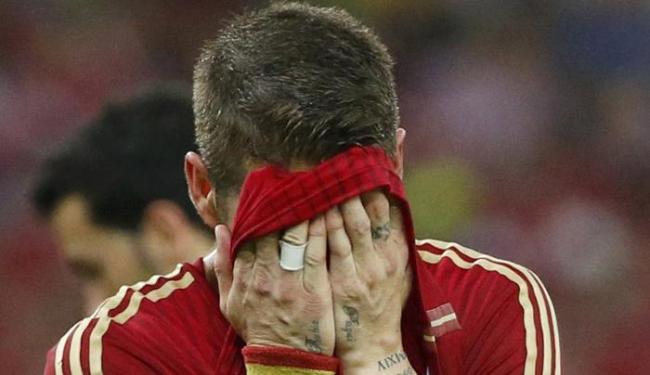 Sergio Ramos lamenta a eliminação precoce da Espanha na Copa do Mundo - Foto: Jorge Silva | Ag. Reuters