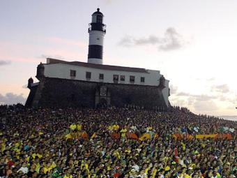 Público da Fifa Fan Fest na Barra - Foto: Lúcio Távora   Ag. A TARDE