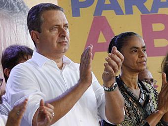 Campos e Marina durante a convenção estadual em Salvador - Foto: Marco Aurélio Martins   Ag. A TARDE