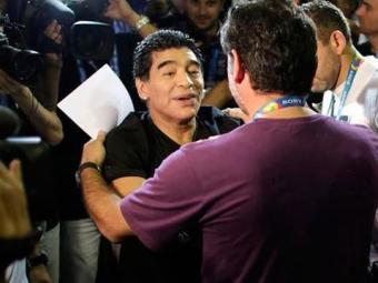 Maradona no Maracanã, na partida entre Argentina x Bósnia - Foto: Rickey Rogers | Agência Reuters