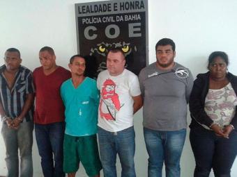 A quadrilha foi presa em flagrante ao tentar arrombar caixa eletrônico no Hiperideal em Stella Maris - Foto: Divulgação | ASCOM Polícia Civil