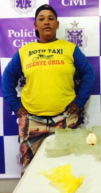 Mototaxista conciliava a atividade com o tráfico de drogas - Foto: Divulgação | Ascom - PC BA