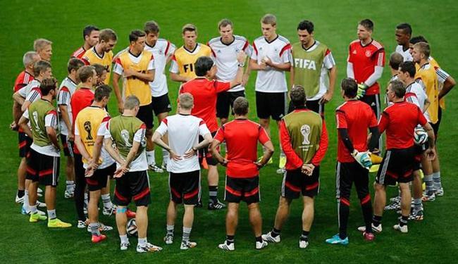 Depois de vencer o Brasil por 7x1, Alemanha discuta a final da Copa do Mundo - Foto: Leonhard Foeger | Agência Reuters