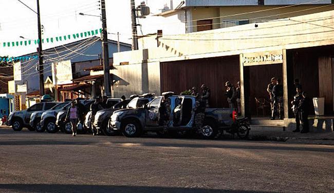 Amargosa recebeu reforço policial após a revolta da população na noite de quarta-feira - Foto: Amargosa News