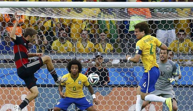 Mueller marcou o primeiro dos sete gols da Alemanha - Foto: Kai Pfaffenbach | Reuters