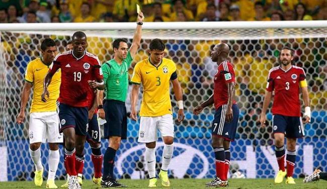 Segundo cartão amarelo tirou Thiago SIlva da semifinal contra a Alemanha - Foto: Jorge Silva