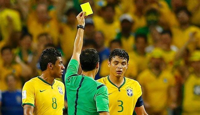 O capitão brasileiro levou o segundo cartão amarelo na Copa - Foto: Marcelo Del Pozo | Reuters