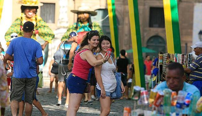 Pontos turísticos como o Centro Histórico e Barra ficaram lotados nos dias de jogos - Foto: Joa Souza | Ag. A TARDE