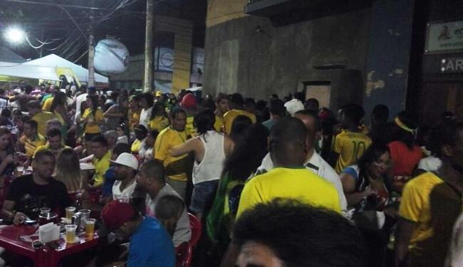 Goleada alemã acirra os ânimos e Fan Fest na Barra termina em confusão - Foto: Juracy dos Anjos | Ag. A TARDE