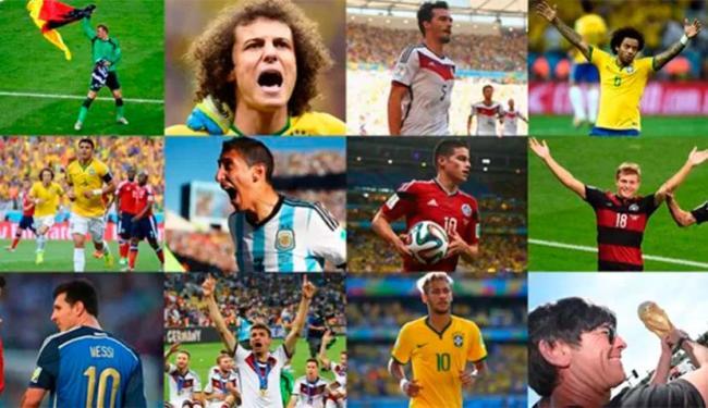 David Luiz, Thiago Silva, Marcelo e Neymar compõem equipe dos sonhos - Foto: Reprodução | Fifa