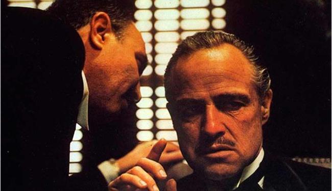 Francis Coppola e Marlon Brando em cena de