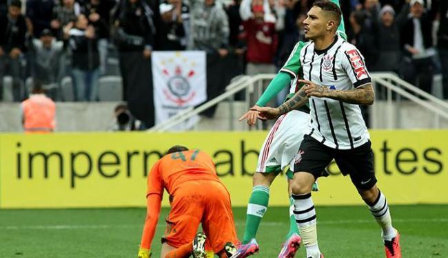 Guerrero, do Corinthians, comemora após marcar gol na partida contra o Palmeiras - Foto: Luis Moura | Agência Estado