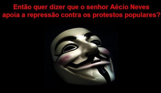 Imagem aborda a repressão às manifestações no Brasil - Foto: Reprodução
