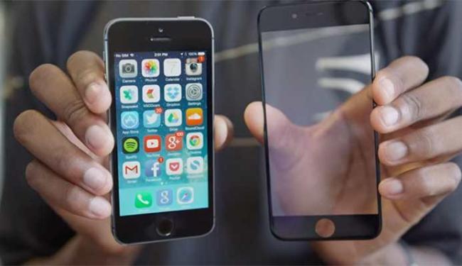 Vídeo mostra a suposta tela do iPhone 6 e o compara com o 5S - Foto: Reprodução