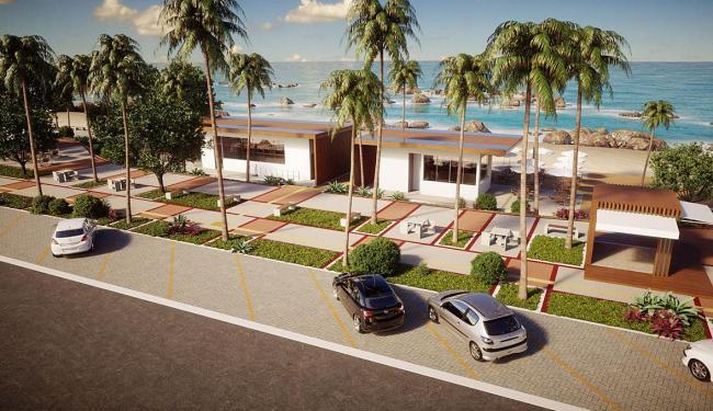 Perspectiva frontal do projeto dos novos quiosques - Foto: Divulgação   Prefeitura
