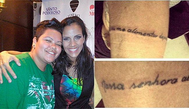 Fã de Ju Moraes, Paulinha tatuou trecho de música no braço - Foto: Reprodução | Instagram