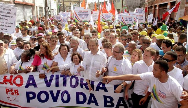 Desfile dos socialistas durante o cortejo do 2 de Julho - Foto: Fernando Amorim | Ag. A TARDE