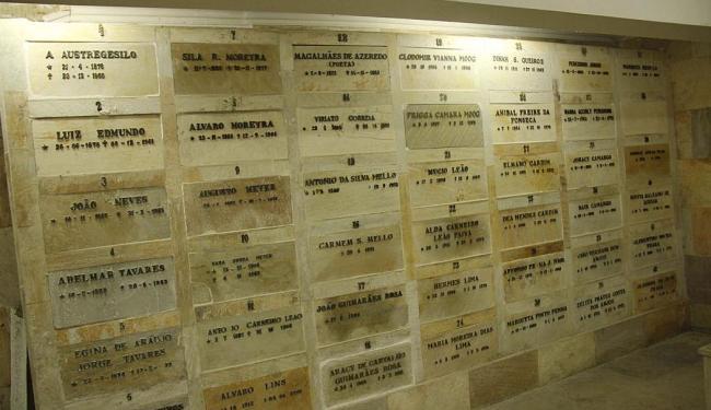 Mausoléu da ABL, onde o corpo do escritor baiano foi sepultado - Foto: José Lucena   Futura Press/Folhapress