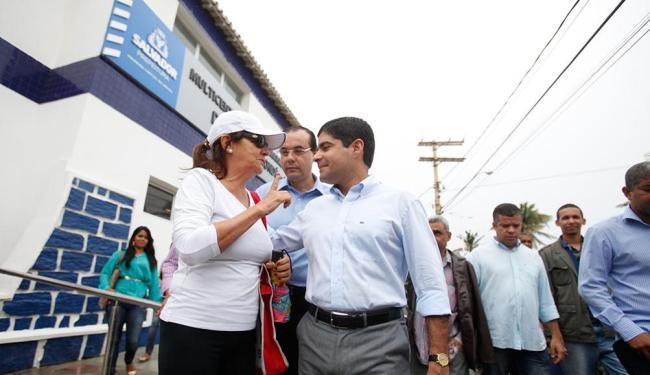 O prefeito ACM neto participou da inauguração do multicentro na manhã desta segunda - Foto: Edilson Lima   Ag. A TARDE