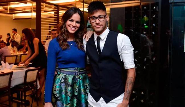 Neymar apareceu na festa com novo visual - Foto: Divulgação   TV Globo