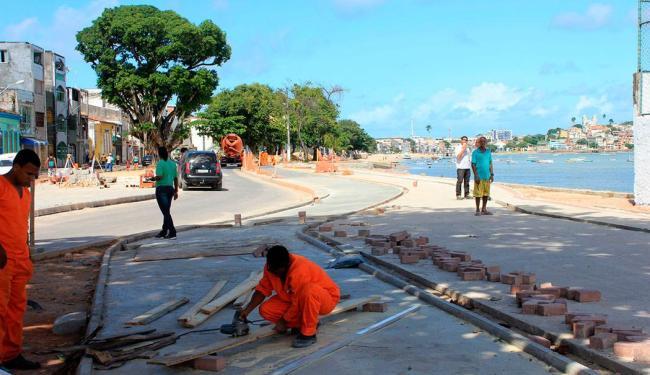 Intervenção reiniciada esta semana tinha prazo inicial de conclusão para dez/2013 - Foto: Paloma Carvalho   Divulgação
