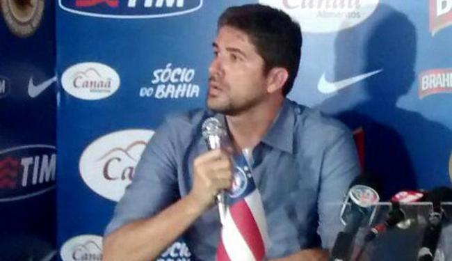 Segundo o diretor de futebol, o novo treinador ainda não está contratado - Foto: Divulgação l E.C. Bahia