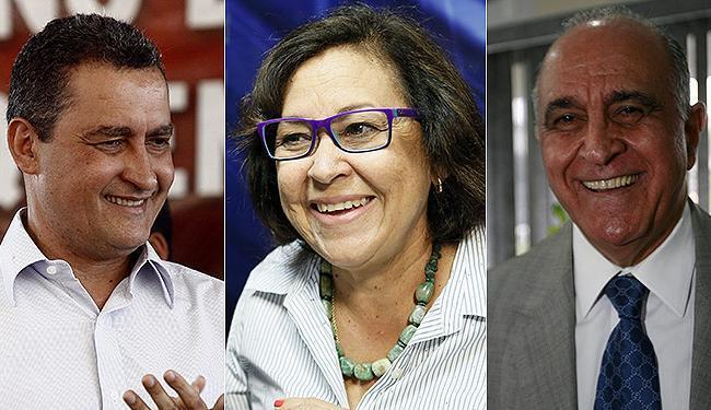 Paulo Souto (DEM) lidera com 42%, contra 11% de Lídice da Mata (PSB) e 8% de Rui Costa (PT) - Foto: Lúcio Távora, Manuela Cavadas e Erik Salles | Ag. A TARDE