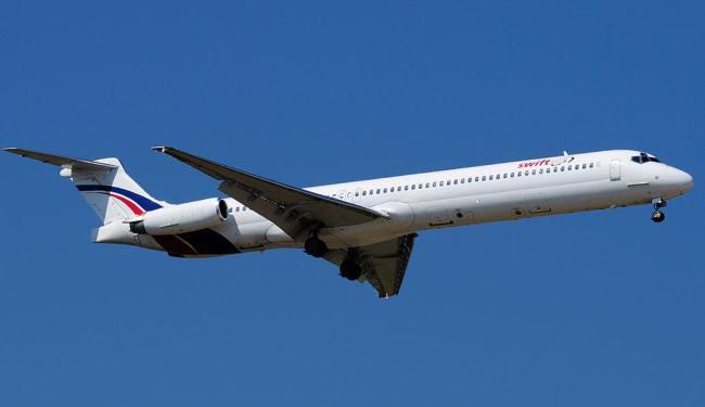 Avião da empresa Swiftair subiu dos radares nesta quinta-feira - Foto: Agência Reuters