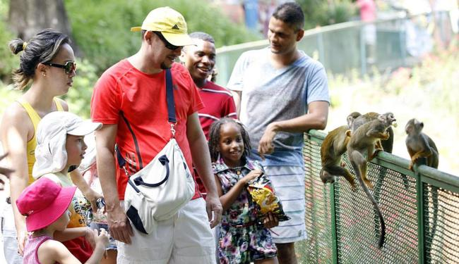 Jornada em família durante o feriado de 2 de Julho fez a alegria das crianças no zoo da capital - Foto: Marco Aurélio Martins | Ag. A TARDE