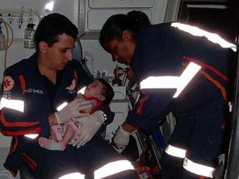 Bebê de dois meses não sofreu ferimentos no acidente - Foto: Blog do Sigi Vilares