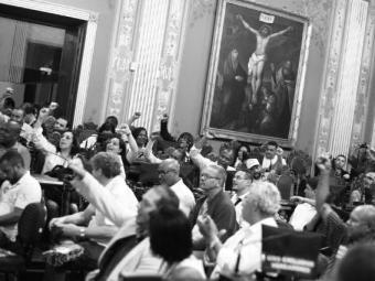Sessão para entrega do título de cidadão soteropolitano ao sindicalista João Batista da Rocha Lemos - Foto: Fernando Vivas| Ag. A TARDE