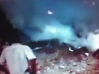 Imagem do local pouco depois do acidente - Foto: Reprodução