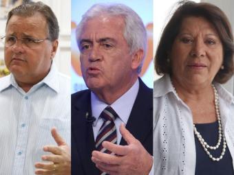 Geddel (PMDB) é o líder na disputa para o Senado, seguido por Otto (PSD)e Eliana Calmon (PSB) - Foto: Edilson Lima | Ag. A TARDE Lúcio Távora Ag. A TARDE Edilson Lima | Ag. A TARDE