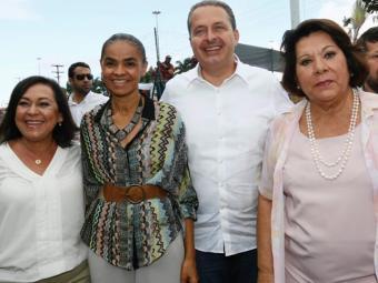 Lídice da Mata recepciona Marina e Eduardo Campos ao lado de Eliana Calmon - Foto: Divulgação