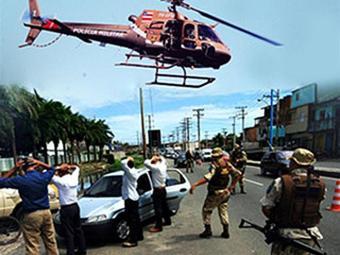 A operação contou com aparato tecnológico de uma aeronave do Grupamento Aéreo da PM (Graer) - Foto: Divulgação | SECOM