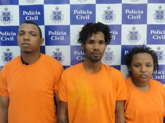 O criminoso, de 24 anos, foi detido com um revólver calibre 38 e comparsas - Foto: Ascom/PC