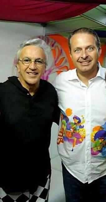 Caetano e Eduardo Campos, a quem conheceu ainda criança - Foto: Reprodução | Facebook