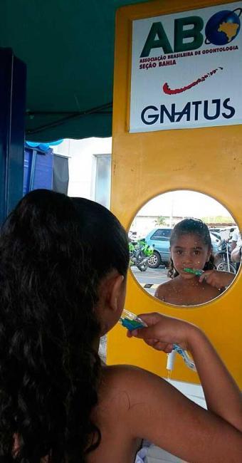 O objetivo do projeto é orientar sobre a prevenção em saúde bucal - Foto: Divulgação