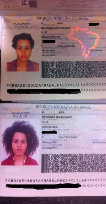 Veja comparação do passaporte oficial de Lília com cabelo preso e simulação feita por programa de TV - Foto: Reprodução | Facebook