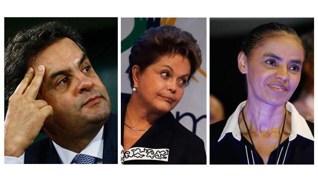 Aécio, Dilma e Marina aparecem na nova pesquisa Datafolha - Foto: Ag. A TARDE