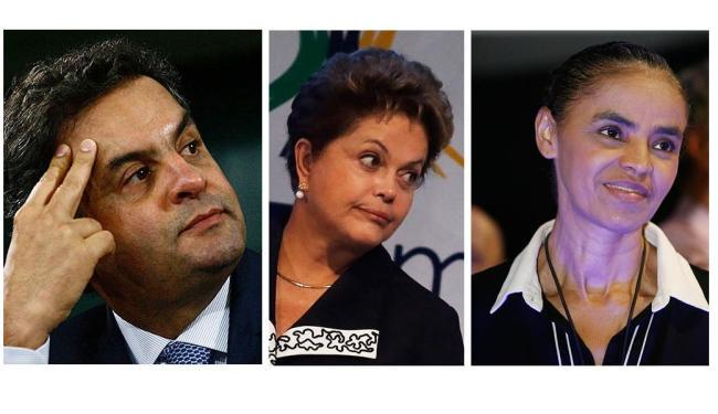 Dilma com 36% das intenções de voto, contra 20% do candidato do PSDB, Aécio, e 21% de Marina - Foto: Ag. A TARDE
