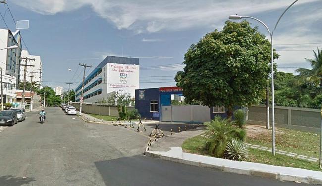 Faixada do colégio Militar no bairro da Pituba - Foto: Reprodução | Google Street View