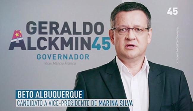 Beto Albuquerque citou nome de Marina e Campos na propaganda tucana - Foto: Reprodução