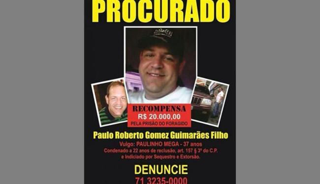 Família distribuiu cartaz com oferta de recompensa de R$ 20 mil - Foto: Reprodução