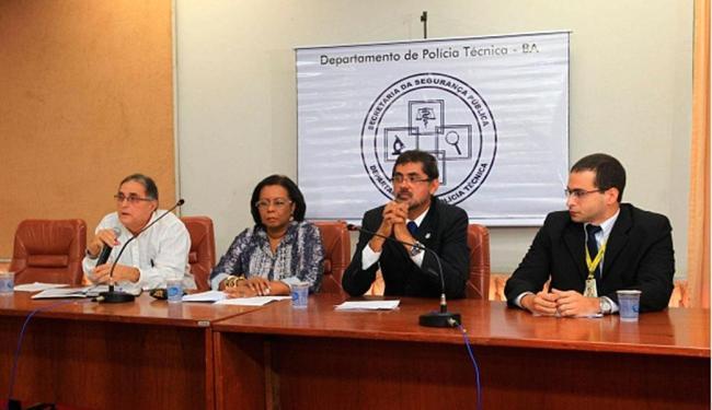Foi realizada uma coletiva nesta manhã para tratar do processo de identificação e laudos periciais - Foto: Divulgação | Secretaria de Segurança Pública