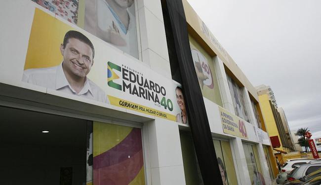 Entrada do comitê da candidata ao governo da Bahia Lídice da Mata, na Pituba - Foto: Fernando Amorim | Ag. A TARDE
